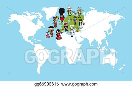 Vector Illustration - Europe people cartoons world map ... on interview process map, lgbt map, humanity map, international education map, human impact map, economic value map, strategic plan map, niche map, coherence map, abortion rights map, respect map, wage gap map, classroom management map, race discrimination map, personal excellence map, feminism map, creative class map, student growth map, study abroad map, dominance map,