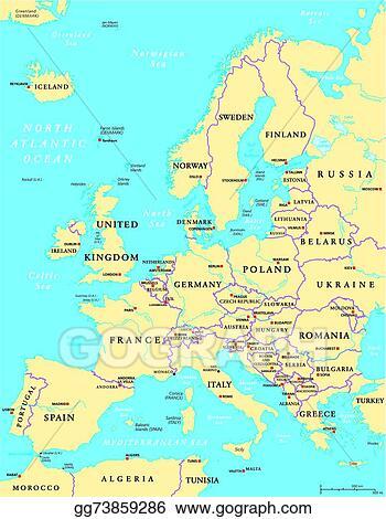 Vector Stock - Europe political map. Stock Clip Art ...