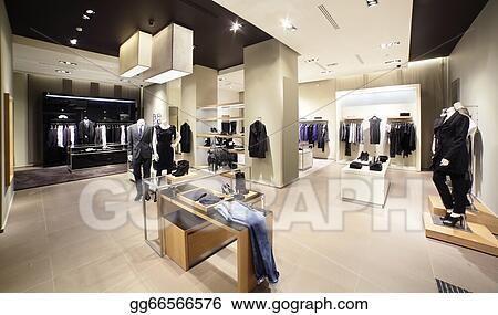 1229ba0846ef Stock Photograph - European brand new clothes shop. Stock Image ...