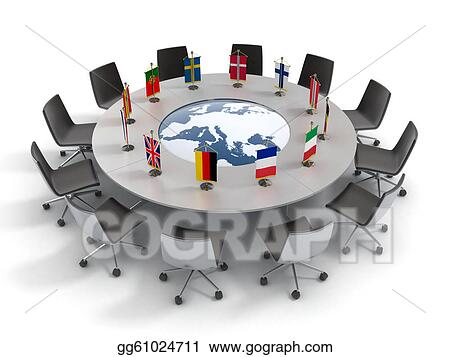 Stock Illustration European union round table Clipart