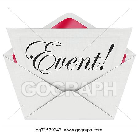 stock image event word invitation envelope special access vip