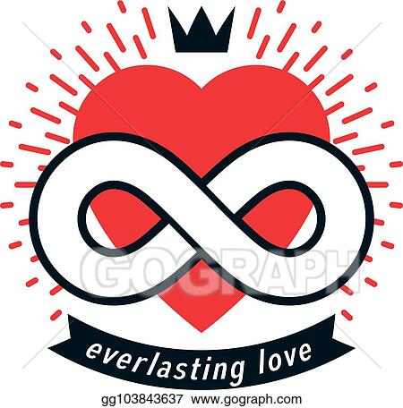 Vector Stock Everlasting Love Concept Vector Symbol Created With