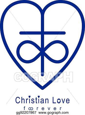 Eps Illustration Everlasting Love Of God Vector Creative Symbol