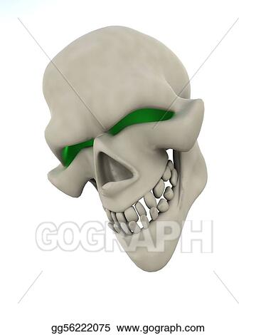 Drawing Evil Skull Face Clipart Drawing Gg56222075 Gograph