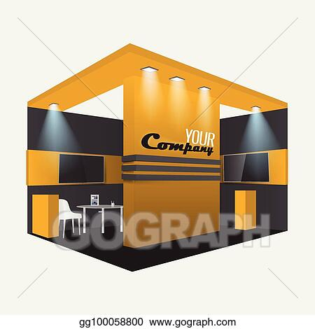Trade Exhibition Stand Vector : Trade exhibition and promotion stand template vector free