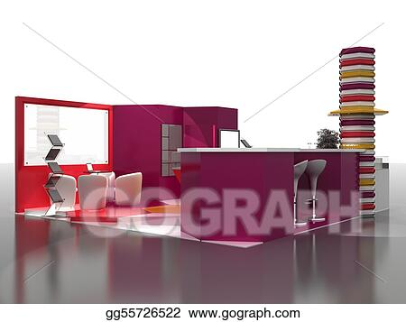 Exhibition Stand Interiors : Drawings exhibition stand interior sample stock illustration