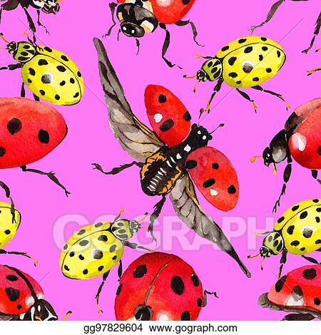 d07114867f978 Stock Illustration - Exotic ladybug wild insect pattern in a ...