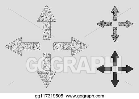 Vector Expand and Contract Icons Clipart Images