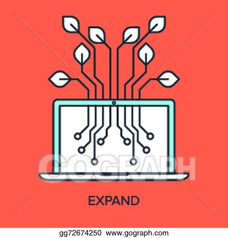 Expand Clip Art - Royalty Free - GoGraph