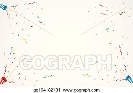 Exploding party popper backgrounBirthday background with gift box and confettid  sc 1 st  GoGraph & Vector Clipart - Exploding party popper backgrounbirthday background ...