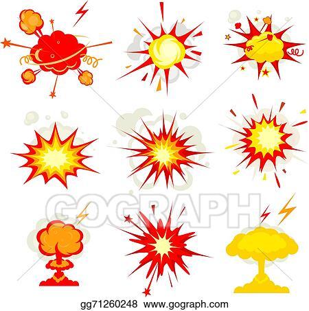 EPS Illustration - Explosion, blast or bomb bang fire. Vector ...