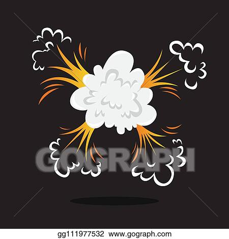 Vector Art - Explosive boom effect  smoke from the bomb  Clipart