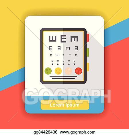 Eps Vector Eye Chart Flat Icon Stock Clipart Illustration