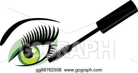 eps vector eye green mascara stock clipart illustration rh gograph com Moving Winking Eyes Clip Art Moving Winking Eyes Clip Art