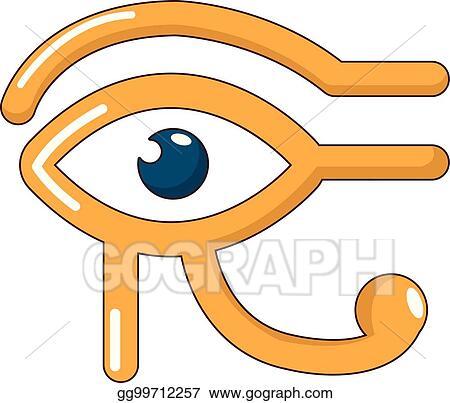 Vector Art - Eye horus icon, cartoon style  EPS clipart