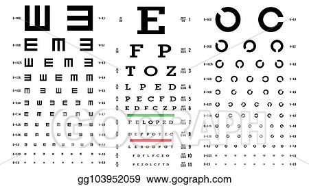 Vector Art Eye Test Chart Vector Vision Exam Optometrist
