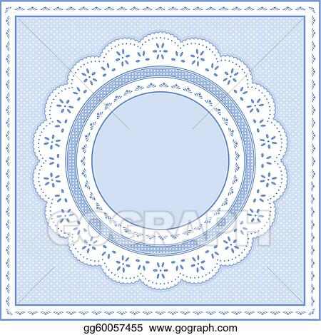 vector clipart eyelet lace frame pastel blue vector illustration rh gograph com Pastel Butterfly Pastel Sunset Background