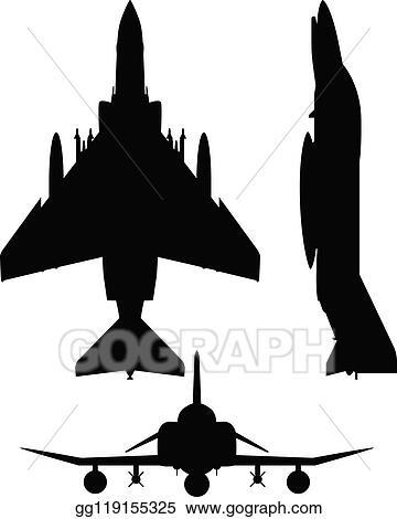 Eps Vector F 4 Phantom Ii Military Fighter Jet Aircraft Silhouette Vector Illustration Stock Clipart Illustration Gg119155325 Gograph