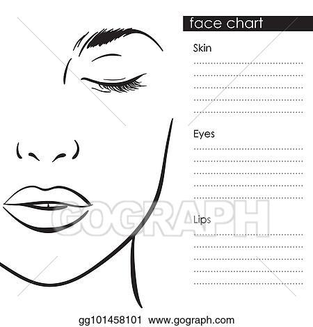 Face Drawing Template Makeup