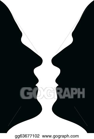 Stock Illustration Face Wase Or Two Heads Or Vase Clip Art