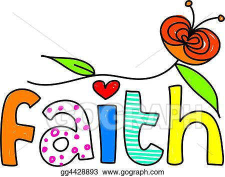 stock illustration faith clipart gg4428893 gograph rh gograph com faith clipart free faith clipart black and white