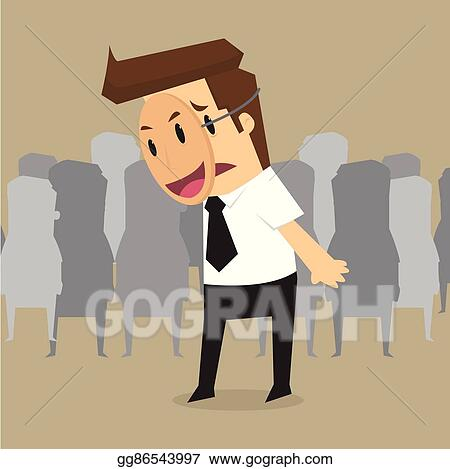 Concept Clip Wearing Rage Stock Smile Gograph Art Vector - Mask Cavaliers Gg86543997 Businessman Illustration Fake Business