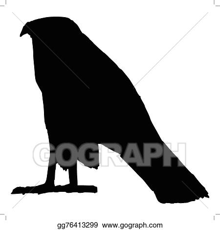 Eps Illustration Falcon Ancient Egyptian Symbol Vector Clipart