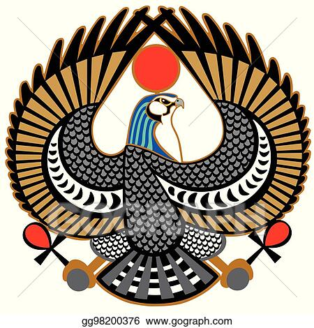Eps Illustration Falcon Symbol Of Horus Vector Clipart Gg98200376