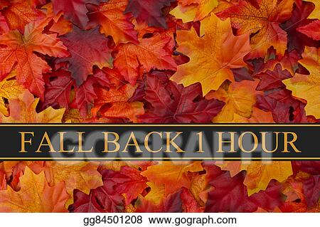 Picture - Fall back time change message  Stock Photos