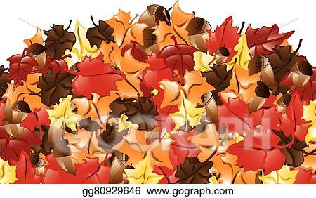 vector illustration fall leaves border stock clip art gg80929646