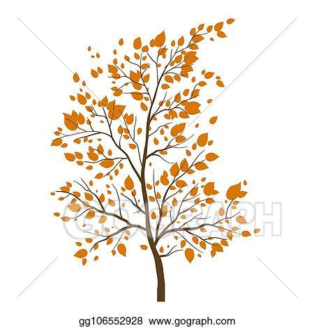 Vector Clipart Fall Tree Icon Vector Illustration Gg106552928 Gograph