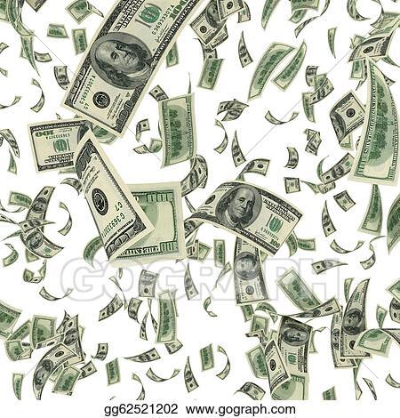 stock illustration falling dollar bills clipart gg62521202 gograph rh gograph com dollar bill clipart free dollar bill clip art free printable