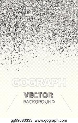 Falling Glitter Confetti Vector Silver Dust Isolated On Transpa Background Sparkling Border Festive Frame
