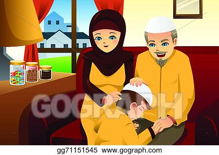 Beautiful Family Eid Al-Fitr Greeting - family-celebrating-eid-al-fitr_gg71151545  Picture_662545 .jpg
