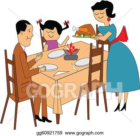 vector stock family dinner clipart illustration gg60921759 gograph rh gograph com family dinner clipart family dinner clip art free