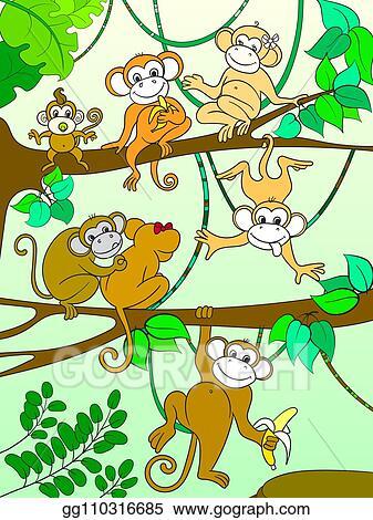 girl-monkey-clip-art-monkey-in-a-tree-clipart-baby-monkey-tree ...   Cute  baby monkey, Monkey tattoos, Cute monkey