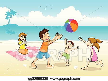 Vector Art Family Picnic Clipart Drawing Gg82999339 Gograph