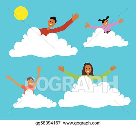Drawings Family Sitting On Clouds Stock Illustration Gg58394167 Gograph Therefore, sitting on a cloud is sitting on miniscule water droplets. https www gograph com clipart license summary gg58394167