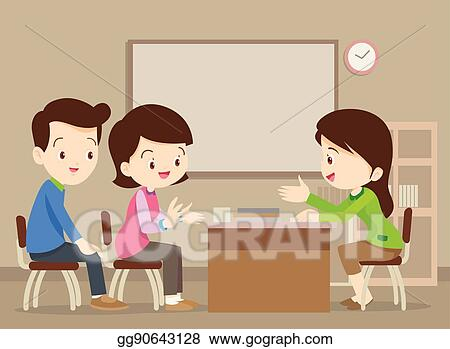 Mother Talk To A Little Child. Parent With A Kid Royalty Free Cliparts,  Vectors, And Stock Illustration. Image 113032067.
