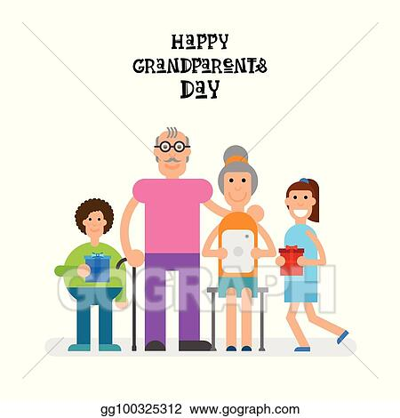 Clip art vector family together happy grandparents day greeting family together happy grandparents day greeting card banner m4hsunfo