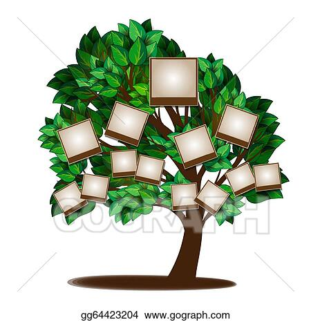 Vector Art Family Tree Design Template Clipart Drawing Gg64423204