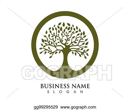 Vector Art Family Tree Logo Template Clipart Drawing Gg99295529