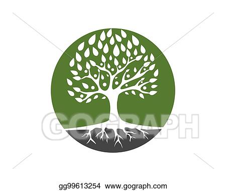 Vector Art Family Tree Logo Template Clipart Drawing Gg99613254