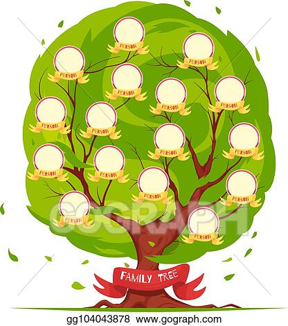Eps Illustration Family Tree Template Vector Clipart Gg104043878