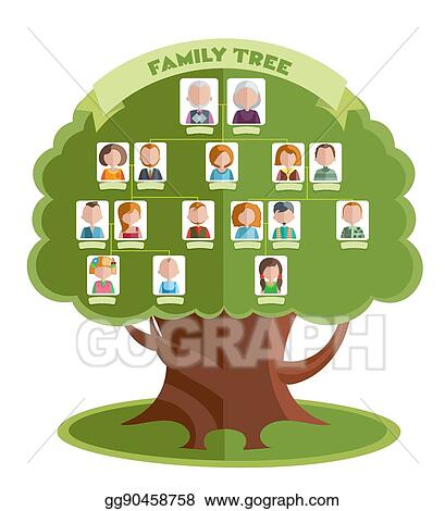 Eps Illustration Family Tree Template Vector Clipart Gg90458758
