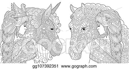 Hydrangea coloring page pdf beautiful woman coloring sheet | Etsy | 241x450