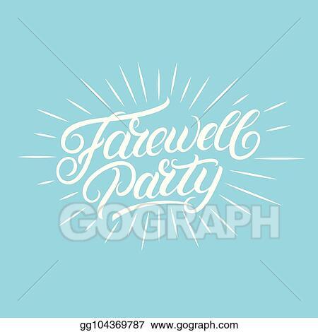 Farewell Party Illustration Stock-Vektorgrafik (Lizenzfrei) 592326869