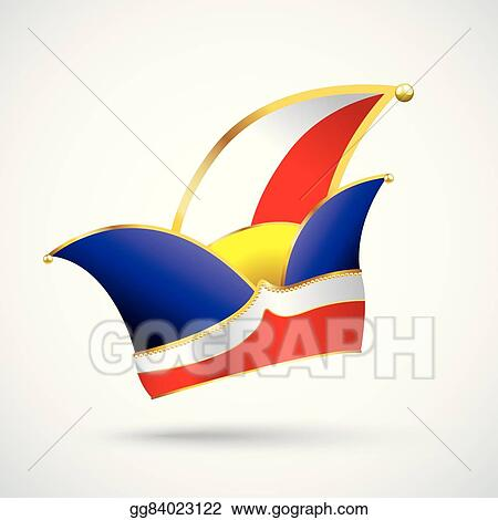 Eps Vector Fasching Jesters Cap Stock Clipart Illustration