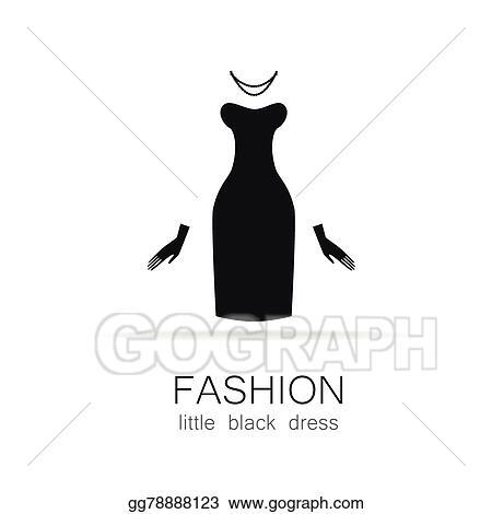 Vector Stock Fashion Little Black Dress Template Stock Clip Art
