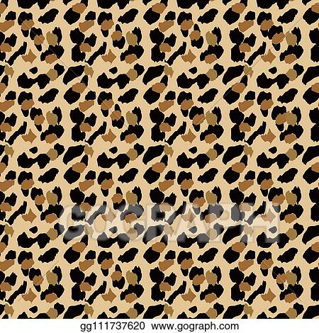 Vector Stock Fashionable Leopard Seamless Pattern